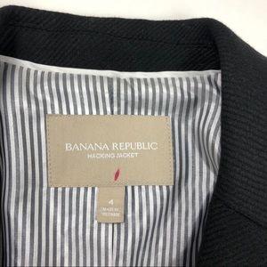 Jackets & Coats - Bannana Republic size 4 Black Wool Blazer